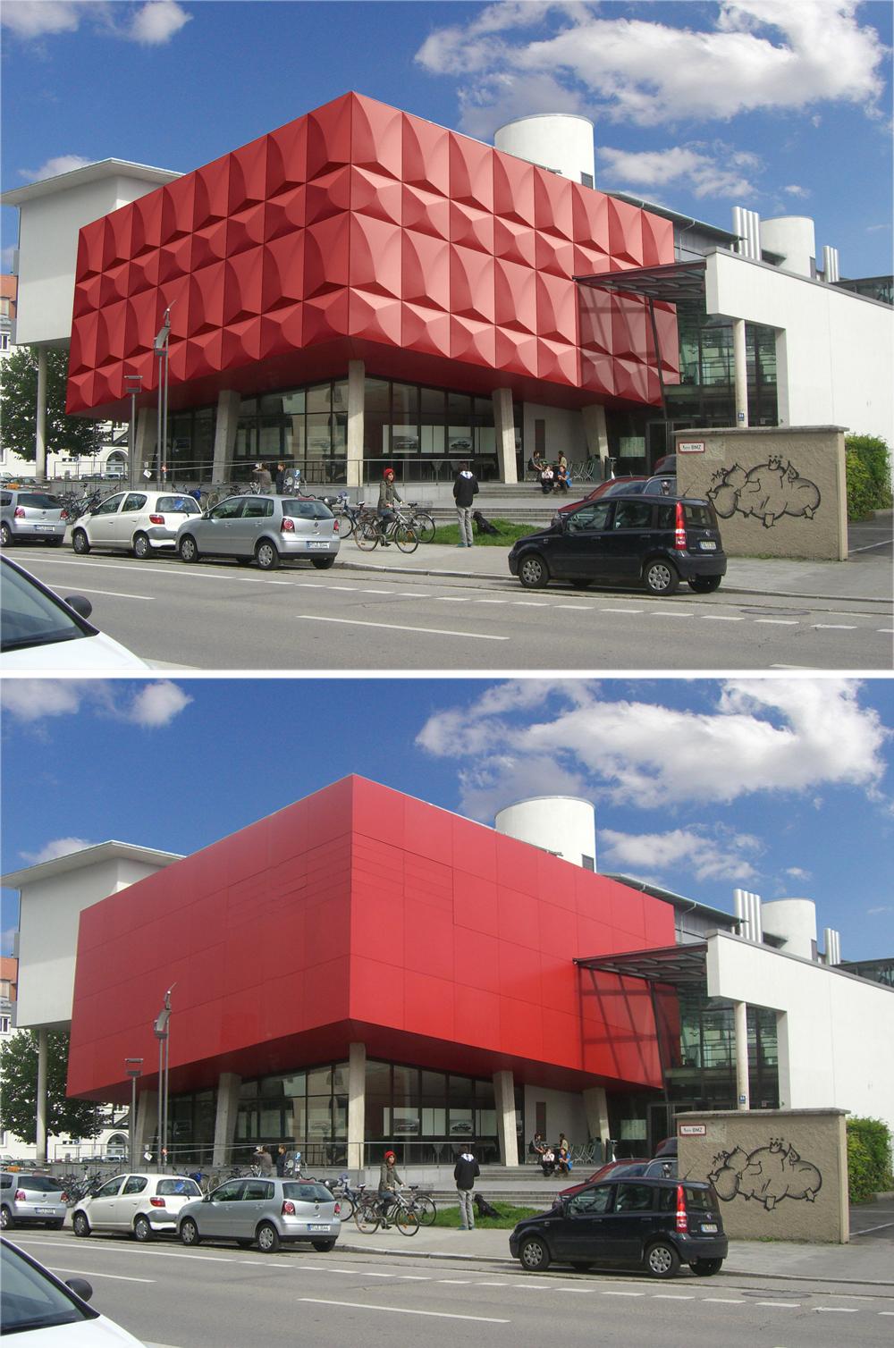 Wärmedämmung München arbeit form funktion dreidimensionale fassadenornamentik als